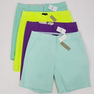 NEW J Crew Walking Shorts City Shorts Lot 4 Blue
